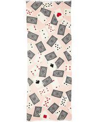 Kate Spade Las Vegas Playing Cards Scarf - Blush Multi - Lyst