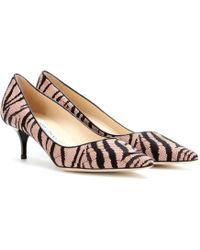 Jimmy Choo Aza Suede and Lace Pumps - Lyst