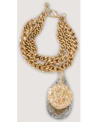 Bebe Lion & Crystal Bracelet - Lyst