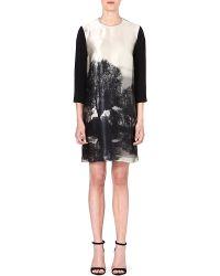 Stella McCartney Forestprint Silk Dress Grey - Lyst