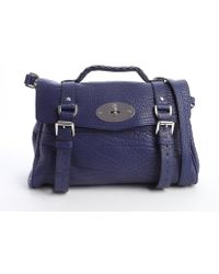 Mulberry Indigo Pebbled Leather Alexa Satchel Bag - Lyst