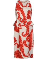 Giambattista Valli Printed Cotton Dress - Lyst