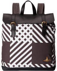 Vivienne Westwood Africa Plaid Backpack black - Lyst