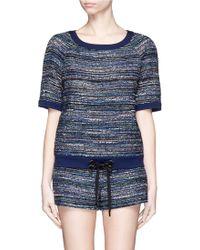 Diane von Furstenberg | 'adela' Stripe Tweed Sweatshirt | Lyst