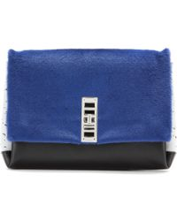 Proenza Schouler Ps Elliot Calfhair and Leather Clutch - Lyst