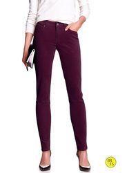 Banana Republic Factory Skinny Cords Purple Fig - Lyst