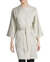 Natori - Textured Wrap-front Coat - Lyst