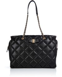 Ferragamo Quilted Leather Tote - Lyst