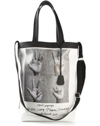 Golden Goose Deluxe Brand Hand Signal Print Tote - Lyst