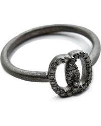 Jamie Wolf - Nycb Serenade Black & White Diamond Ring - Silver - Lyst