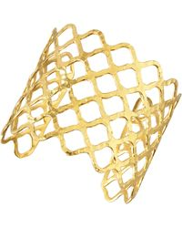 Devon Leigh - Woven Gold Cuff - Lyst