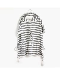 Madewell Hooded Poncho gray - Lyst