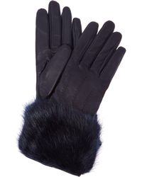 Ted Baker - Jania Leather Glove With Faux Fur Trim - Lyst