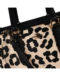 Coach Handbag Bag Mini Crossbe Carryall Ocelot Shopping Leather Printed Animalier - Lyst