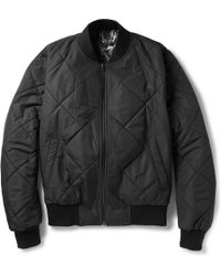 Sandro Reversible Quilted Bomber Jacket - Lyst
