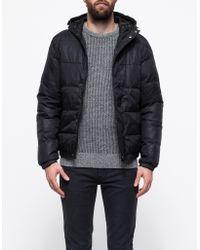 Topman Black High Shine Puffa Jacket - Lyst