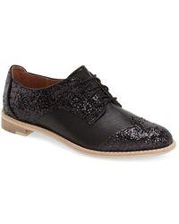 All Black | Glitter Saddle Oxford | Lyst