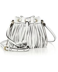 Rebecca Minkoff   Lexi Micro Fringed Leather Bucket Bag   Lyst