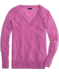 J.Crew Collection Cashmere V-Neck Sweater - Lyst