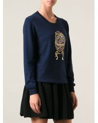 Markus Lupfer Embellished Faberge Egg Sweater - Lyst