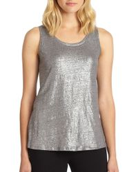 Eileen Fisher Shimmer Knit Tank Top - Lyst
