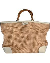 Gucci Beige Handbag - Lyst