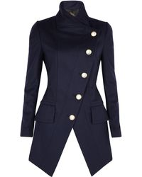 Vivienne Westwood Anglomania Angled Buttoned State Coat - Lyst