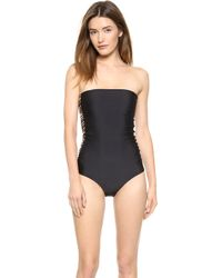 Mikoh Swimwear Santorini One Piece Swimsuit - Night - Lyst