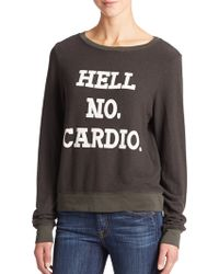 Wildfox No Cardio Sweatshirt gray - Lyst