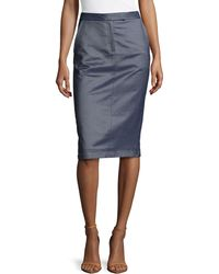 Jason Wu Silk Denim Trouser Skirt - Lyst
