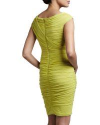 Tadashi Shoji Asymmetricneck Ruched Dress - Lyst