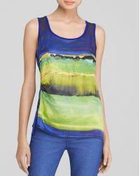 Karen Millen Painterly Brushstroke Print Tank - Bloomingdale'S Exclusive - Lyst