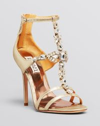 Badgley Mischka Open Toe Evening Sandals - Giovana Ii High Heel - Lyst