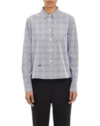 Band Of Outsiders Tally Mark Cropped Oxford Cloth Shirt - Lyst