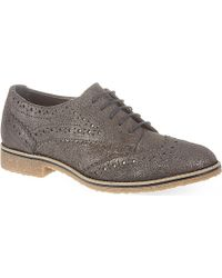 Carvela Kurt Geiger Loot Suede Brogues - For Women gray - Lyst