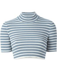 Alessandra Rich | Striped Cropped Sweater | Lyst