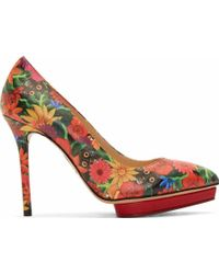 Charlotte Olympia Red Frida Kahlo Debbie Pumps - Lyst