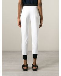 Isola Marras - Contrast Slim Fit Trousers - Lyst
