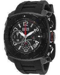 Elini Barokas - The General Chrono Black Silicone, Dial And Case - Lyst