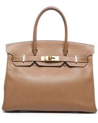 Hermes Pre-owned Gold Courchevel Birkin 30cm Bag - Lyst
