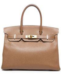 Hermès Pre-owned Gold Courchevel Birkin 30cm Bag - Lyst