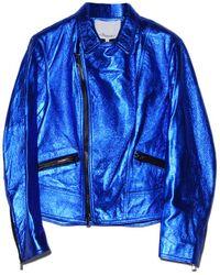 3.1 Phillip Lim - Cobalt Boxy Motorcycle Jacket - Lyst