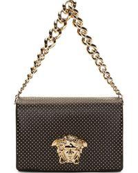 Versace Black Studed Medusa Shoulder Bag - Lyst