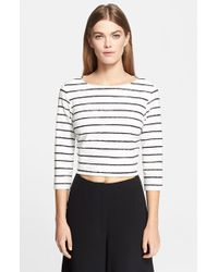 Elizabeth And James 'Jayren' Stripe Crop Top - Lyst