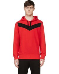 Diesel Red and Black Knit S_mangala Hoodie - Lyst