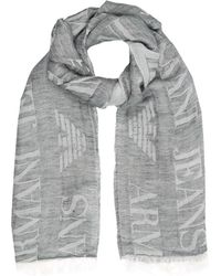 Armani Jeans - All-Over Logo Scarf - Lyst