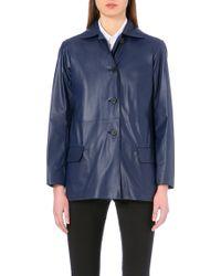Jil Sander Tasso Reversible Leather Jacket - Lyst