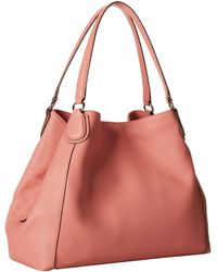 Coach Refined Pebbled Leather Edie - Lyst