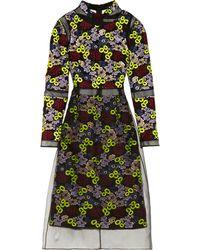 Erdem Phyllis Embroidered Organza Dress - Lyst