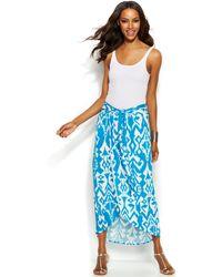 INC International Concepts - Printed Sarong Maxi Skirt - Lyst